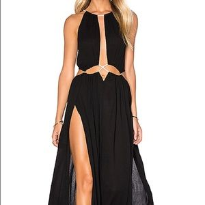 """Dresses & Skirts - Lost in Lunar """"Palm Springs"""" Black Maxi Dress"""